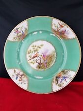 VINTAGE UNION T CZECHO-SLOVAKIA CHINA DINNER PLATE BIRDS PATTERN 10 1/2""