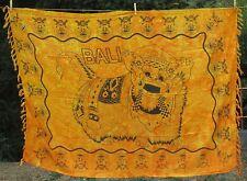 SARONG Sarung BARONG gelbtöne Pareo Lava-Lava Wickeltuch Indonesien Bali neu