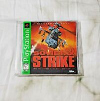 Soviet Strike (Sony PlayStation 1, 1996, Greatest Hits) PS1 MANUAL & DISC ONLY