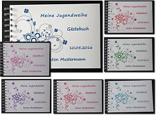 Geschenk Jugendweihe Konfirmation Kommunion Firmung Gästebuch # Kreise A5 quer