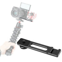 PT-5 Cold Shoe Extension Bracket Bar Microphone Mount Vlogging For Sony A6400