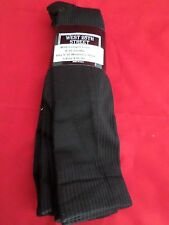 3 Pair West 25th Street Mild Compression Knee Hi Sock Black Made in USA 5-10