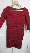 Geometric V Neck Stretch, Bodycon Short/Mini Women's Dresses