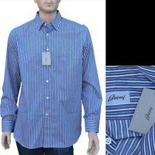 BRIONI New sz XL Authentic Designer Mens Luxury Pure Cotton Striped Shirt