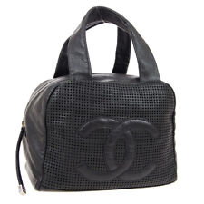 CHANEL Quilted CC Mesh Mini Boston Hand Bag Purse Caviar Skin 9574748 K08794