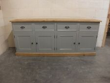 RUTLAND PAINTED 7FT SIDEBOARD CABINET HAND MADE ROUGH SAWN BESPOKE COLOUR SIZES