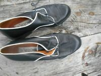 MOCASSINS  FEMME NOIRES BLANCHES COLLECTOR VINTAGE TBE DI VERONA ITALY A 24€ ACH