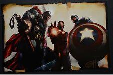 Thor Iron Man Captain America Signed Greg Horn Print