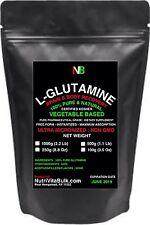 200 SERVINGS1000g (2.2 Lb) L-GLUTAMINE BRAIN+BODY RECOVERY PURE FREE FORM POWDER