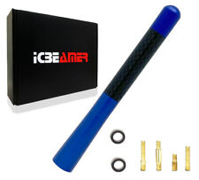 "JDM 5"" Inch Real Carbon Fiber Blue Antenna Billet Aluminum For Car & Truck V688"