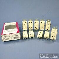 10 Leviton Almond Decora Receptacle Duplex Outlet NEMA 5-15R 15A 125V 5325-AMP