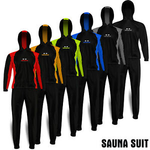 Heavy Duty Sweat Suit Sauna Exercise Weight Loss Suit Gym Fitness with Hooded
