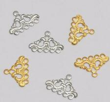 30pcs hollow triangle five-hole vintage pendant DIY earrings jewelry accessories