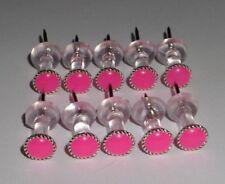 10 Hot Pink thumb tacks/push pin, Office School Decor Cork Memory Bulletin Board