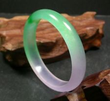 CHINESE Icy Green icy Lavender JADE Bangle Bracelet 60 mm 249711