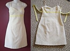 Shoshanna Cotton Eyelet Lace White Yellow~8~Beautiful