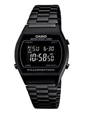 Casio B640WB-1B Mens Black Digital Retro Vintage Style Watch BLACKOUT