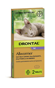 Drontal All-Wormer for Cats & Kittens Up to 4kg - 2 Tablets