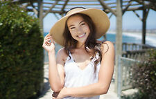 Fashion Foldable Roll Up Wide Brim Straw Bow Sun Visor Floppy Cap Hat