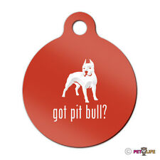 Got Pit Bull Engraved Keychain Round Tag w/tab APBT Many Colors