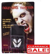 2 x VAMPIRE FANS Teeth Tooth Cap Fright Night Werewolf Fangs Halloween Costume