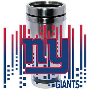 NY New York Giants Logo Travel Mug Tumbler Stainless Steel NEW Clear Insert