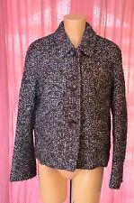 MAX MARA STUDIO jolie veste hiver aine et alpaga violette taille 42