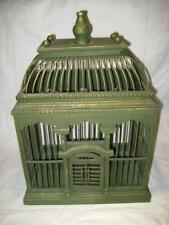 "Vintage Shabby Decorative Green Wood Bird Cage ~ 18.5"" H X 13.5"" W X 9.25"" D"
