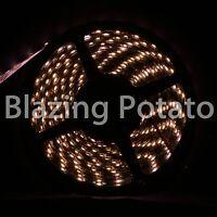 LumenWave 5M 3528 IP65 Waterproof Flexible LED Strip Lights -Black PCB-WarmWhite