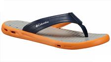 Columbia Vent Cush Toe-Post Sandals New Men's Orange/Blue Flip-Flops Size 10