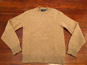 Vintage Robert Bruce Boys 18 XL Wool Blend Pullover Sweater Camel Brown Washable
