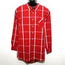 Herren Hemd Shirt Langarmshirt Freizeithemd rot kariert Übergröße Gr. 3XL - 6XL