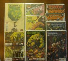 Marvel Comics Secret Wars lot Planet Hulk Future Imperfect Guardians Spiderman