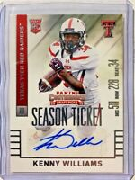 Kenny Williams Autograph RC 2015 Rookie Panini Contenders Draft Picks