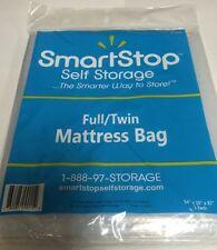 """New Made In USA Self Storage Full Twin Mattress Clear Plastic Bag 54"""" X 10"""" X 87"""