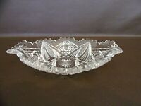 Vintage Cut Glass Crystal Candy Or Serving Dish (#8B049)