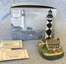 Cape Lookout Lighthouse Nc #405 Signed Harbour Lights 1996 Coa Figurine Nib