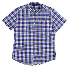Tommy Hilfiger Mens Classic Fit Cotton Buttondown Plaid Shirt Multi Size L