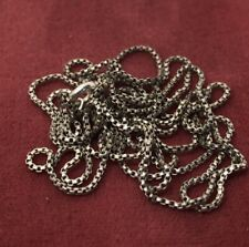 """Sterling Silver Necklace 925 Chain 32"""" Box"""