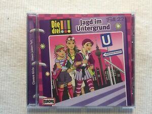 (EL) - Die 3 !!! - Jagd im Untergrund - Fall 22 - Hörbuch - CD - sehr gut!