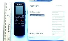 Sony handheld Digital Voice Recorder Icd Px312 working with Instruction booklet