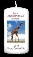 Personalised New Home House Warming Candle Gift Keepsake Present Giraffe #1