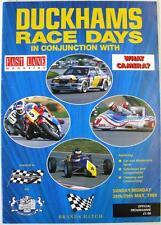 Brands Hatch 28/29 MAGGIO 1989 MOTOR RACING PROGRAMMA UFFICIALE Duckhams Race Day
