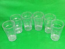 Lot of 6 Cambro Laguna 22oz Hammered Texture Plastic Drinking Glass Tumblers USA