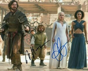 Autographed Emilia Clarke & Peter Dinklage signed 8 x 10 photo Very Nice
