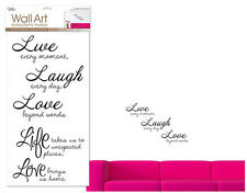 QUOTE: Live Laugh LOVE BRINGS US HOME wall stickers 5 big decals inspirational