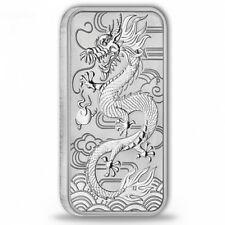 Silberbarren Drache Perth Mint 2018 1 Unze Silber silver bar dragon 1oz Barren