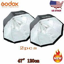 "2pcs Godox 120cm 47"" Umbrella Softbox Octagon For Studio Strobe Camera Flash Us"