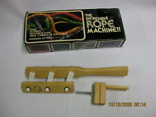 Original The Incredible Rope Machine by Schacht with Box Boulder Co