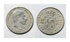ESPAÑA. ALFONSO XII.  10 CENTAVOS DE PESO 1883 MANILA.          BC+ / MBC -